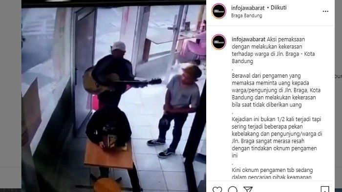 Viral Video Aksi Kekerasan Pengamen pada Pengunjung di Bandung, Tersinggung Ditinggal saat Nyanyi