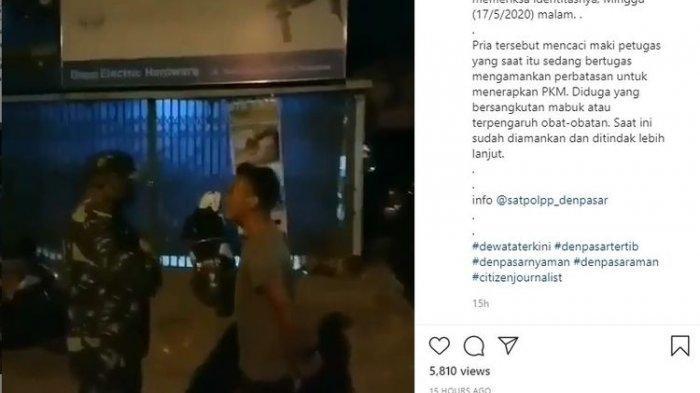 Viral Video Pria Tanpa Masker Mengamuk dan Berkata Kasar pada Anggota TNI, Diduga Mabuk