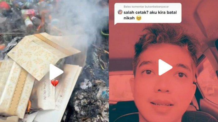 Video Viral, Pria ini Bakar Semua Kartu Undangannya, Pulang Sakit karena Covid-19 Pernikahan Batal