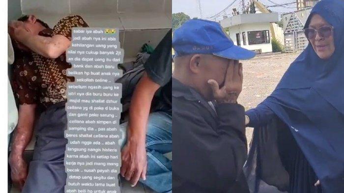 Viral Bapak Tukang Becak di Garut Nangis Histeris, Uangnya Dicuri Saat Ia Salat, Kini Dapat Bantuan