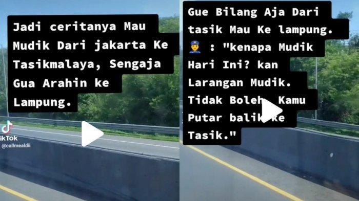 Viral di TikTok Pemudik Kelabui Petugas Bisa Lolos Mudik dengan Cara Trik ini, Netizen Beri Selamat?