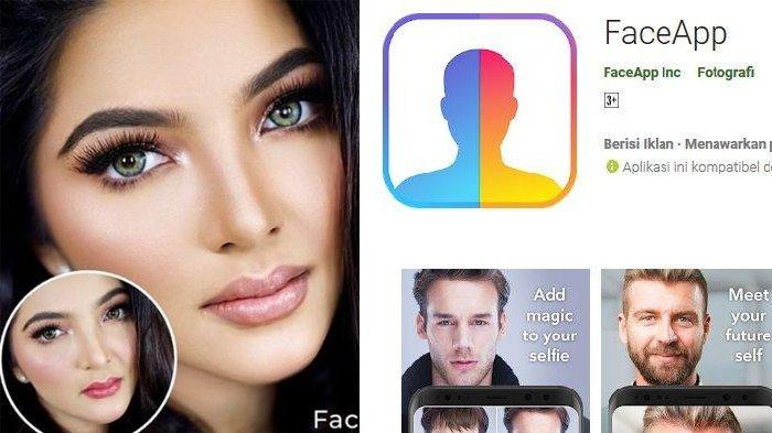 Viral Oplas Challenge di IG, Diramaikan Seleb, Begini Cara Edit Foto Mirip Hasil Oplas di FaceApp