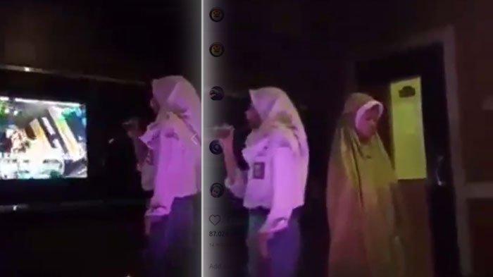 Video Viral Siswi SMA Salat di Ruang Karaoke, Dua Temannya Tetap Asyik Bernyanyi