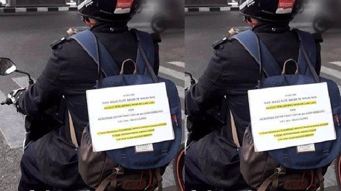 Viral, Pengemudi Ojek di Bandung Tak Bawa Penumpang Lawan Jenis, Dibayar Seikhlasnya Rutenya Bebas