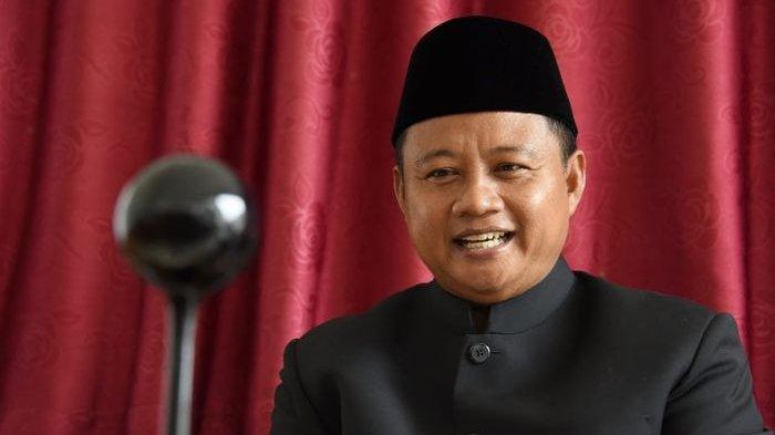 Wakil Gubernur Jawa Barat Uu Ruzhanul Ulum saat menghadiri Parlemen Mengabdi DPRD Provinsi Jabar dalam rangka Peringatan Hari Lahir Pancasila via konferensi video dari Kota Tasikmalaya, Kamis (17/6/2021).