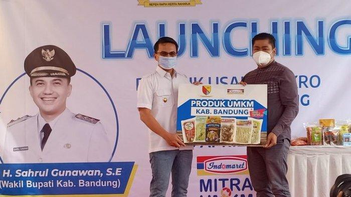 Sahrul Gunawan Launching Produk UMKM Kabupaten Bandung Masuk Indomaret