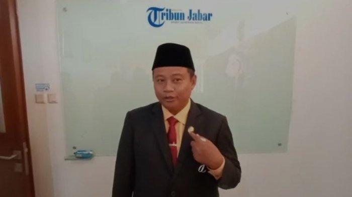 Wakil Gubernur Jawa Barat Uu Ruzhanul Ulum di kantor Tribunjabar.id.