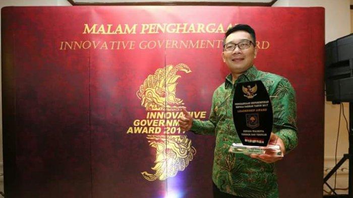 Dinilai Memiliki Sejuta Inovasi, Ridwan Kamil Raih Leadership Award Tadi Malam