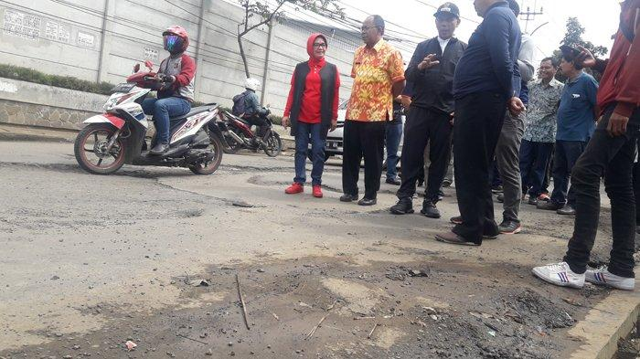 Perbaikan Jalan Mahar Martanegara Tunggu Curah Hujan Menurun, Pemkot Pikirkan Penanganan Sementara