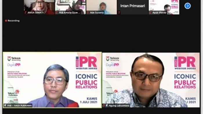 Prodi Digital Public Relations Telkom University Gelar ICONIC Public Relations Webinar Series