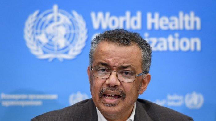 Sekretaris Jenderal Badan Kesehatan Dunia (WHO) Dr Tedros Adhanom Ghebreyesus.