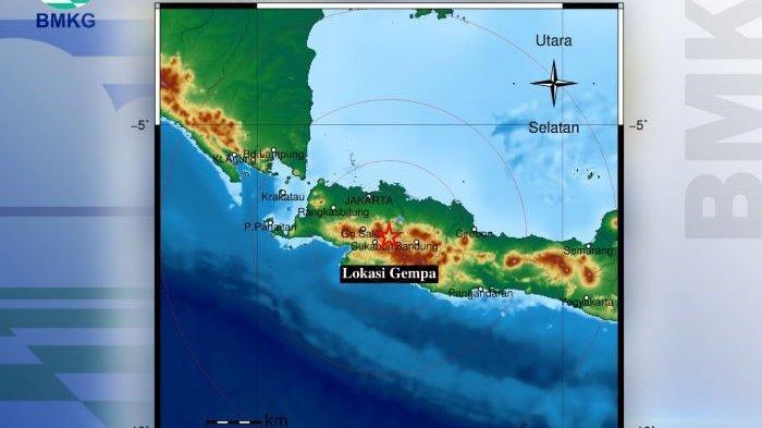 Wilayah Kabupaten Cianjur dan sekitarnya diguncang gempa bumi tektonik, Sabtu, 5 Juni 2021 pukul 21:52:00 WIB.
