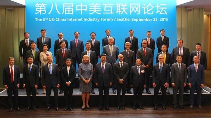 Presiden China Asyik Foto Bareng Big Boss TI AS, Google Malah Tak Diundang