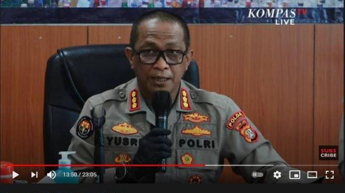 Kabid Humas Polda Metro Jaya, Kombes Pol Yusri Yunus mengungkapkan dalam rilis kasus dugaan penyalahgunaan narkoba Nia Ramadhani dan Ardi Bakrie, Polres Jakarta Pusat, Kamis (8/7/2021).