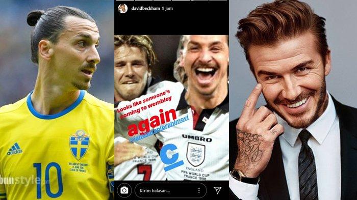 Beckham Menang Taruhan, Potret Ibrahimovic Diedit Memakai Jersey Timnas Inggris