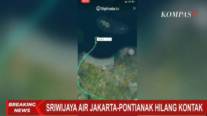 Pesawat Sriwijaya Air Rute Jakarta-Pontianak Hilang Kontak ...