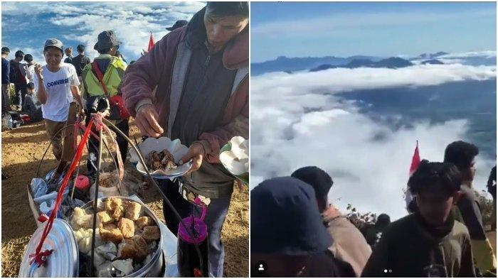Viral Pedagang Bakso di Puncak Gunung Cikuray Garut Diserbu Pendaki hingga Rela Antre