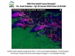 Breaking News: Anak Gunung Krakatau Erupsi, Tinggi Kolom Abu Sekitar 2 Ribu Meter