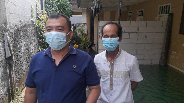 Achmad Sofyan, Ketua RT di lokasi penggerebekan ayah tiri perkosa anak di kawasan Ciputat, Tangsel, Senin (5/4/2021).