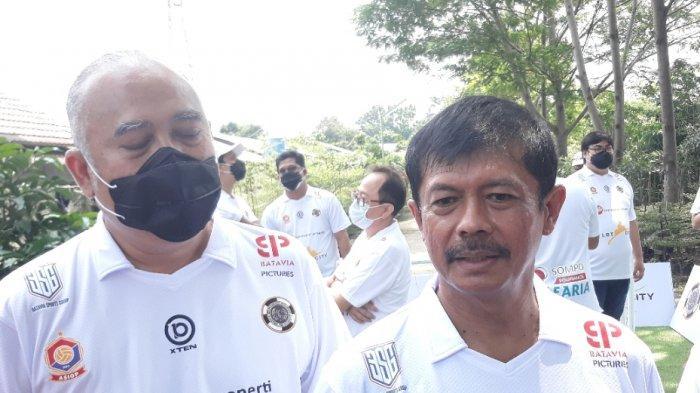 Dirtek PSSI Indra Sjafri dan Dirut PT BSG Ade Prima Syarif