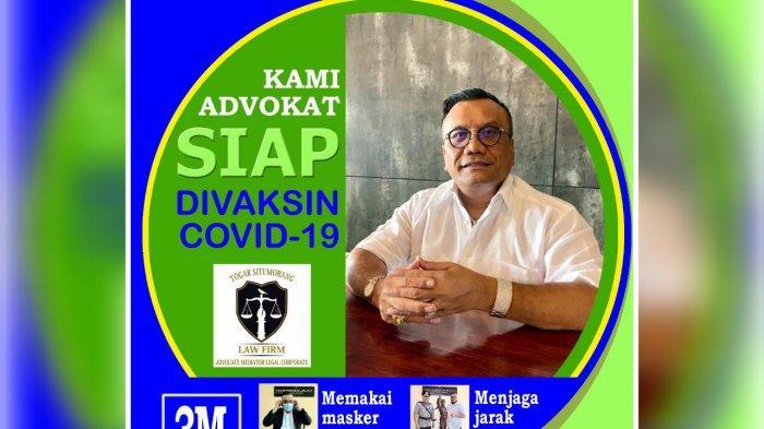 Advokat Togar Situmorang Berharap Masyarakat Ikuti Presiden Jokowi untuk Divaksin