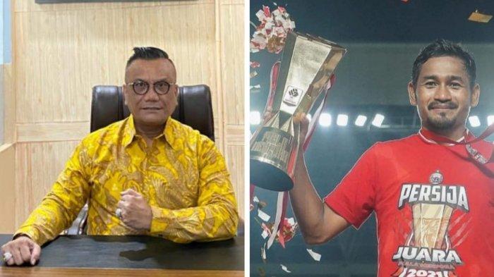 advokat Togar Situmorang dan pemain Persija Jakarta Tony Sucipto.