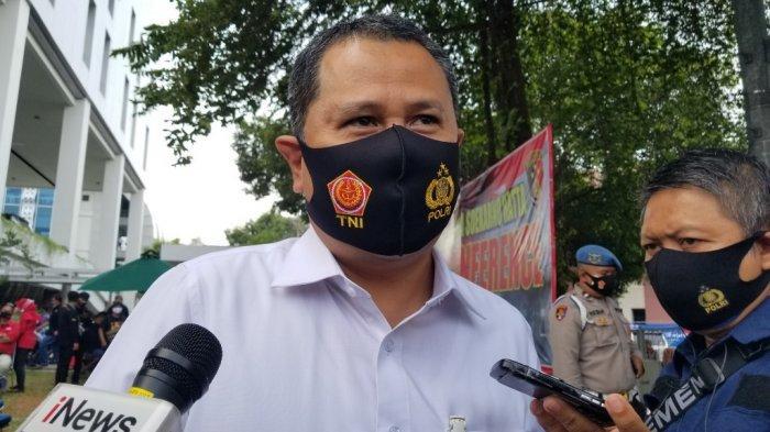 Executive General Manager Bandara Soekarno-Hatta, Agus Haryadi saat ditemui di Mapolresta Bandara Soekarno-Hatta, Senin (28/9/2020).