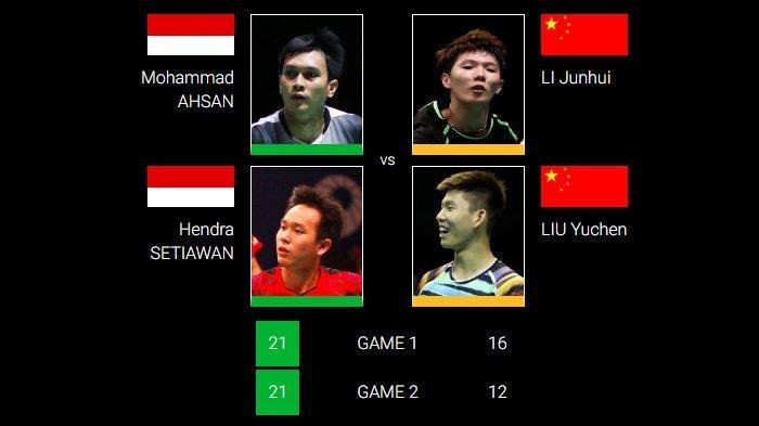 Kalahkan Wakil China Peringkat 2 Dunia, Ahsan/Hendra Lolos ke Semifinal Indonesia Masters 2019