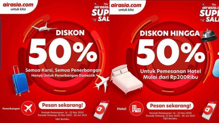 AirAsia tawarkan promo jelang akhir tahun hingga 50%