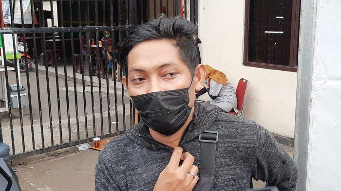 Ajie Fadillah saat dijumpai di Mapolres Bekasi Kota, Rabu (7/4/2021).