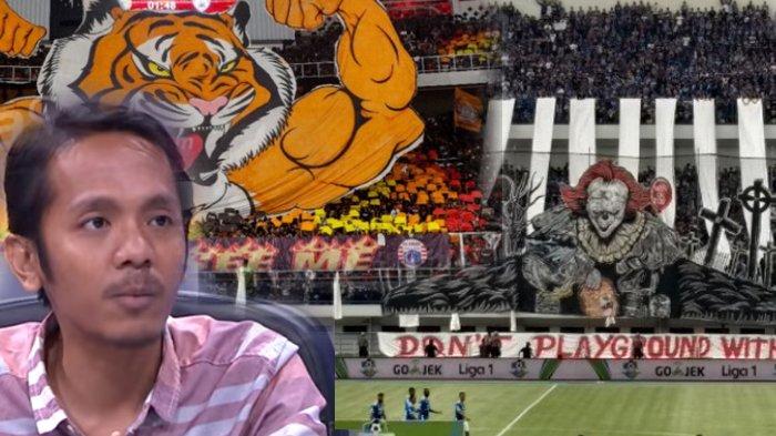 Koreo The Jakmania, Koreo Viking, dan Koordinator save our soccer, Akmal Marhali