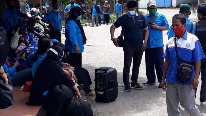 Hari ke-3 Demo, Ratusan Pekerja PT Tang Mas Tuntut Pelunasan Pesangon dan 2 Bulan Gaji
