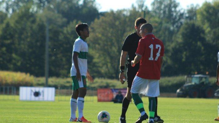 Aksi para pemain Timnas U-19 Indonesia saat menghadapi Bulgaria di International U-19 Friendly Tournament 2020 yang berlangsung di Kroasia.