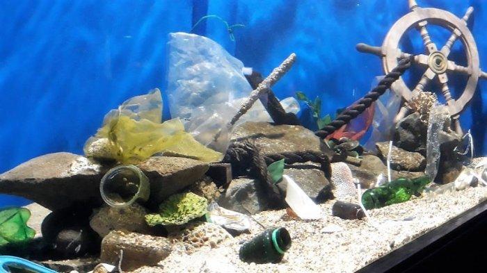 Sadarkan Pelaku Buang Sampah, Sea World Hadirkan Akuarium Sampah Plastik