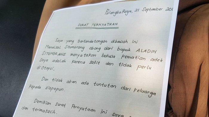 Aladdin Tewas Membusuk di Rumah, Keluarga Tulis Surat Alasan Tolak Jasad Diautopsi