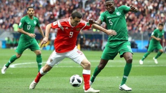 Menang 5-0, Rusia Pesta Gol Ke Gawang Arab Saudi