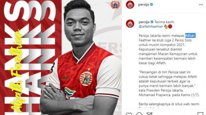Alfath Fathier resmi hengkanng dari Persija Jakarta