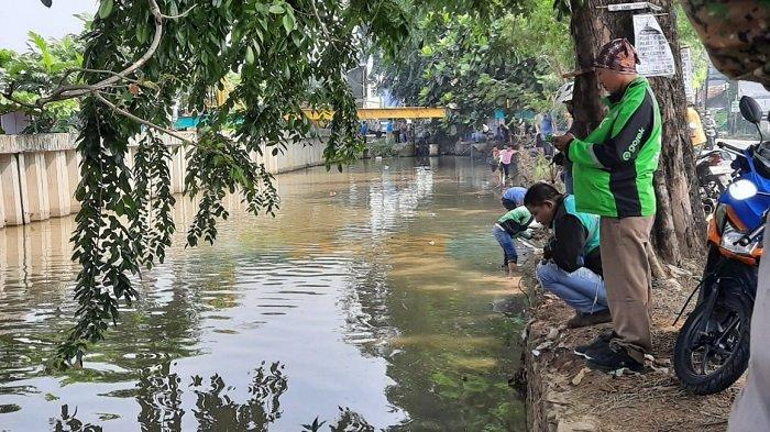 Aliran Air Kali Baru Bekasi Diduga Tercemer Limbah, Ratusan Ikan Mati