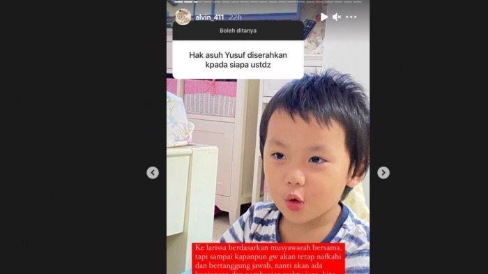 Alvin Faiz serahkan hak asuh anak pada Larissa Chou