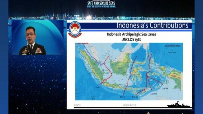 Rektor Universitas Pertahanan (Unhan) RI Laksdya TNI Amarulla Octavian menjadi salah satu pembicara pada 7th International Maritime Security Conference