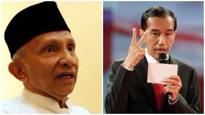 Kali Ini Amien Rais Minta Jokowi Jangan Sampai Turun dari Jabatannya, Kecuali Ada Kasus Ini