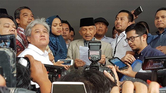 Batal ke KPK Amien Rais Puji Sikap Penyidik Polda Metro Jaya, 30 Pertanyaan Disela Makan Gudeg