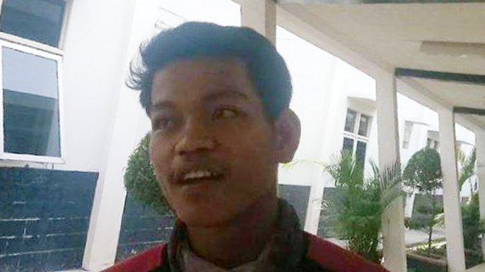 Andre (18) teman korban Fran saat ditemui di Rumah Sakit Bari Palembang, Rabu (28/10/2020).