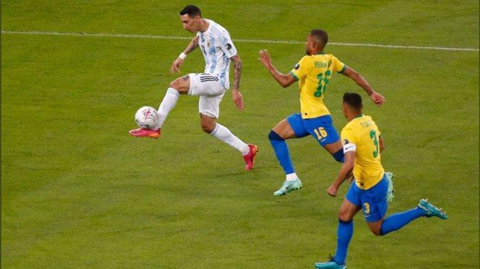 Babak Pertama Final Copa America 2021: Di Maria Bawa Argentina Unggul Sementara Lawan Brasil