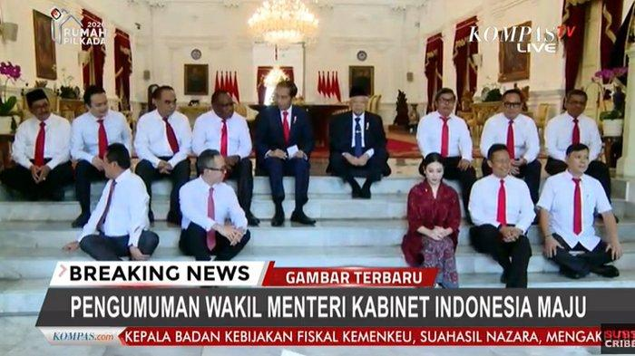 Daftar Lengkap Susunan Wakil Menteri Kabinet Indonesia Maju Jokowi-Maruf, Hanya Satu Orang Perempuan