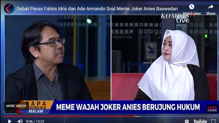 Debat dengan Fahira Idris, Ade Armando Ungkit Ini: Jokowi Difitnah, Ibu Bilang Jangan Tipis Telinga