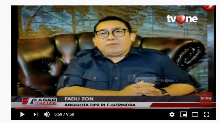 Kapitra Sebut Menteri yang Terobsesi Jadi Presiden Harus Dicopot, Fadli Zon Beri Tanggapan Santai