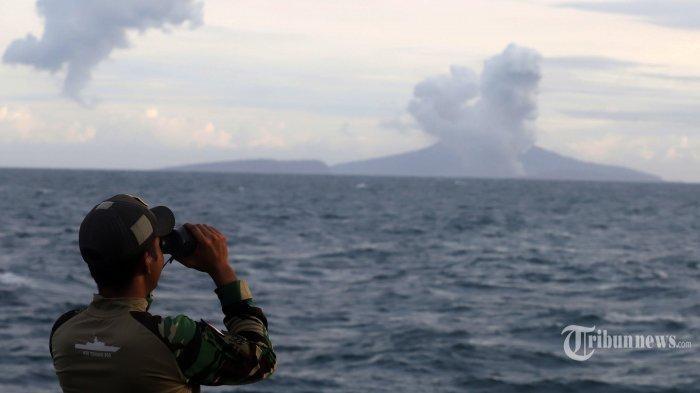 Terdapat 13 Kali Guncangan Akibat Letusan Gunung Anak Krakatau hingga Jumat Pagi Ini