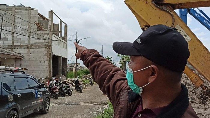 40 rumah di Kampung Sawah, RT 10 RW 11 Kelurahan Semper Timur, Cilincing, Jakarta Utara rusak akibat angin puting beliung, Jumat (26/2/2021) dini hari.