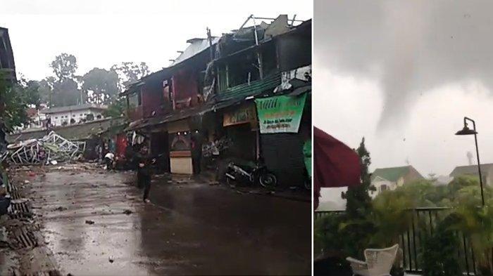 Angin Puting Beliung di Bogor : 848 Rumah Rusak dan 20 Pohon Tumbang